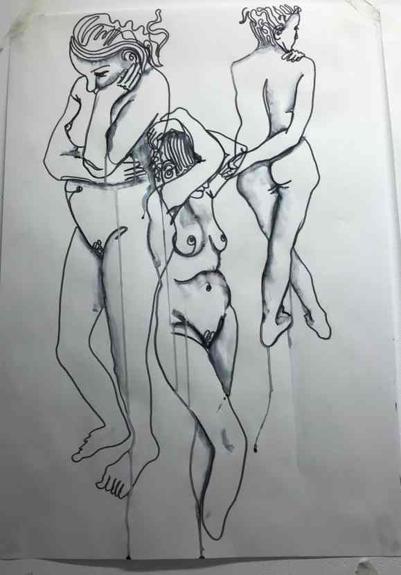 Life Drawing Female Model Lisa Amelia Brook Art